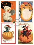 Halloween Postcards Printable