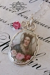 BESTSELLER French Roses Virgin Mary Pendant Sterling Necklace Choice