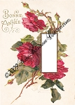 Antique Red Roses Photo Insert Mat 8 x 10