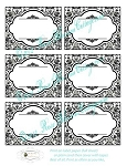 Get Organized! Damask Labels Printable Download