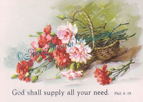 God Shall Supply Your Need Antique Print 5x7