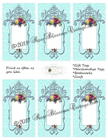 Merchandise & Gift Tag Printables