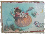 Pumpkin Ride Shabby Image Plaque