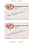 Recipe Card Pink Roses and Angels Sisters Download