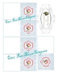 Rose Bouquet Flower Tag Cards Printables