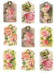Roses Tags Digital Download