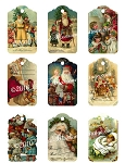 Santa Christmas Tags Digital Download