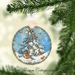 Yummy Christmas Tree Scene Porcelain Ornament Xmas Charms