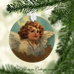 Angel Porcelain Christmas Ornament Xmas
