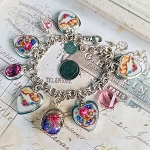 Ella Broken China Jewelry Charm Bracelet