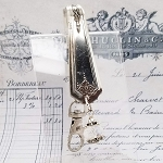 BESTSELLER Key Finder Fob Vintage Silverplate spoon Purse Hanger Organizer Crystal