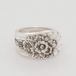 Ornate Floral Silverplate Spoon Flatwear Ring Whole / Half Sizes